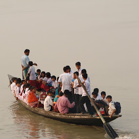 SCHOOL BOAT ! by Kedar Banerjee - News & Events World Events