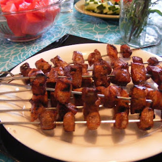 Garlic Balsamic Pork Kebabs