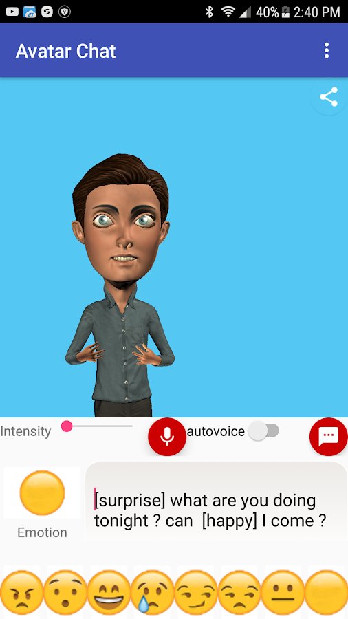 Avatar Chat - animated 3D interactions with voice- screenshot