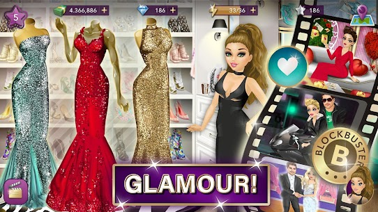 Hollywood Story Mod Apk Fashion Star 9.12.1 (Free Shopping) 2