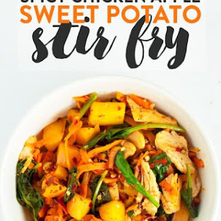 Spicy Chicken and Apple Sweet Potato Stir Fry Recipe