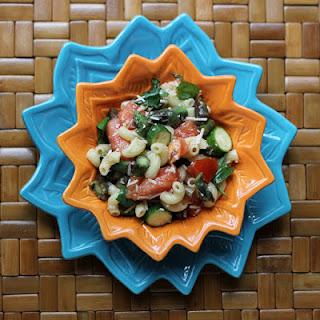 Summer Pasta Salad with Purple Asparagus
