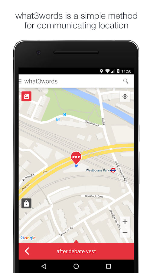 what3words – Capture d'écran
