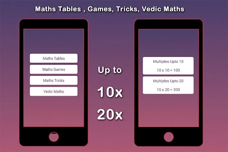 Maths Tables, Games, Maths Tricks, Vedic Maths 1.5 MOD for Android 3