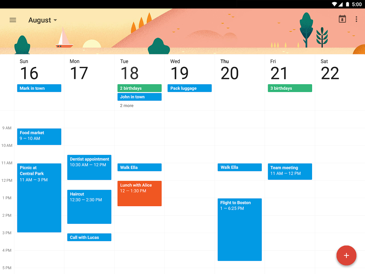 Google Calendar- screenshot