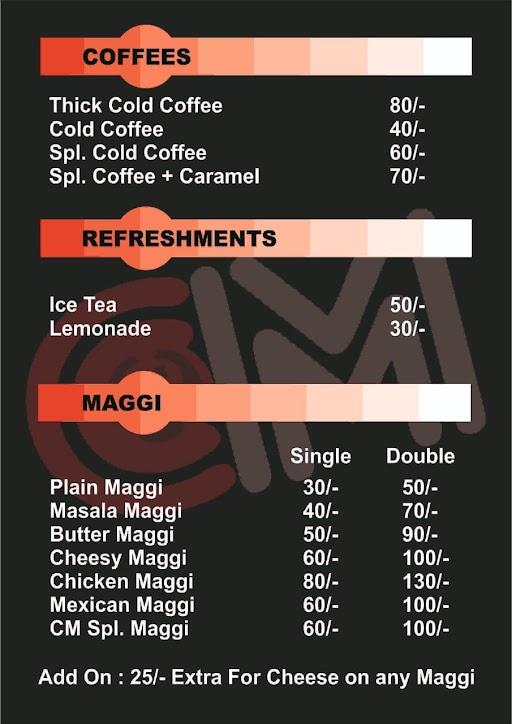 Cold Monsters menu 3