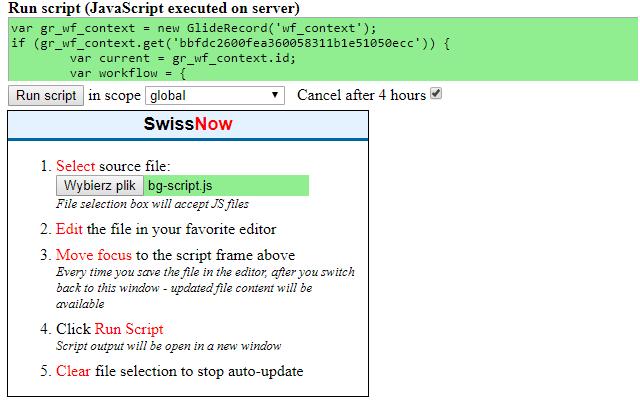 SwissNow - ServiceNOW toolbox