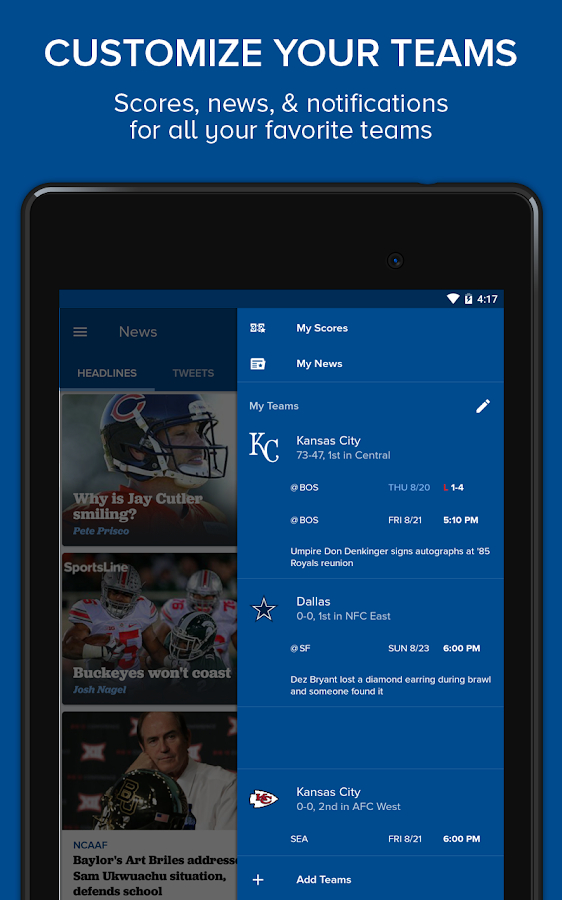 CBS Sports- screenshot
