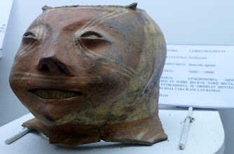 Photo: Head of sculpture by Pantseleos culture, date 500 BC(?)