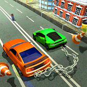 Chained Car Racing Stunt