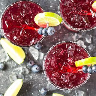 Blueberry Margaritas.