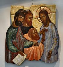 Photo: Christus en de ongelovige Thomas