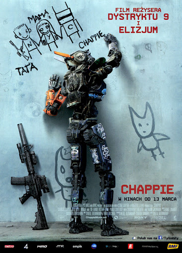 Przód ulotki filmu 'Chappie'