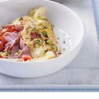 Skinny Pepper, Tomato & Ham Omelet