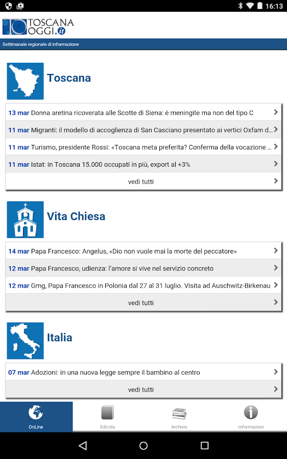 ToscanaOggi- screenshot