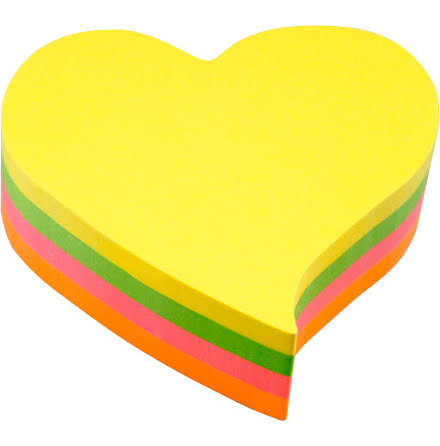 Notis Hjärta 200blad 4färg