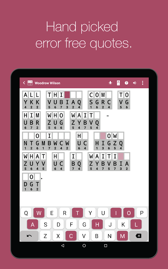 Cryptogram Cryptoquote Puzzle- screenshot