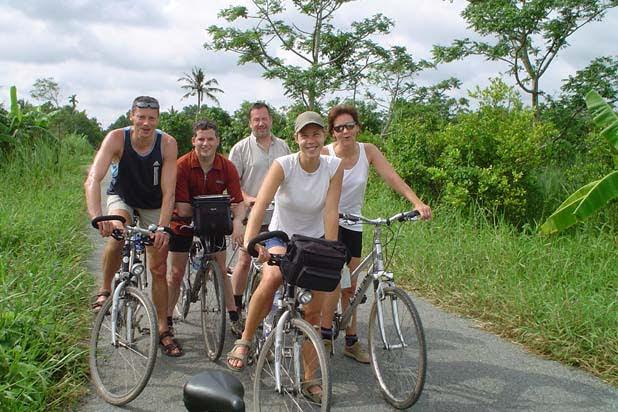 Circuit à vélo dans le Delta du Mékong