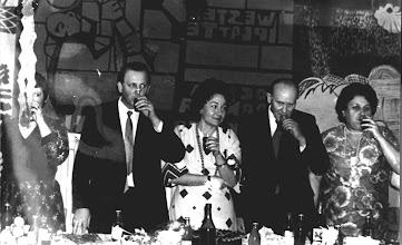 Photo: Elżbieta Machalska-Hołyst, dyr. Jan Święch, Barbara Święch, Konstanty Sieliepin, Bibianna Wyrwa - kierownik internatu