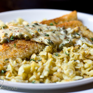 Trout Schnitzel Recipe and Crispy Spaetzle