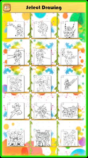 Ninja Hero Turtle Coloring Book apkmind screenshots 2