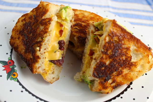 Grilled Cheese Bacon Avocado Sandwich