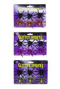 Glitterspindlar, 6-pack