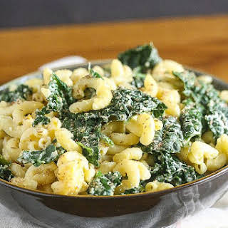 Kale and Cheddar Macaroni and Cheese.