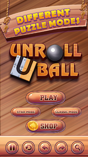 unroll ball - slide puzzle game screenshot 1