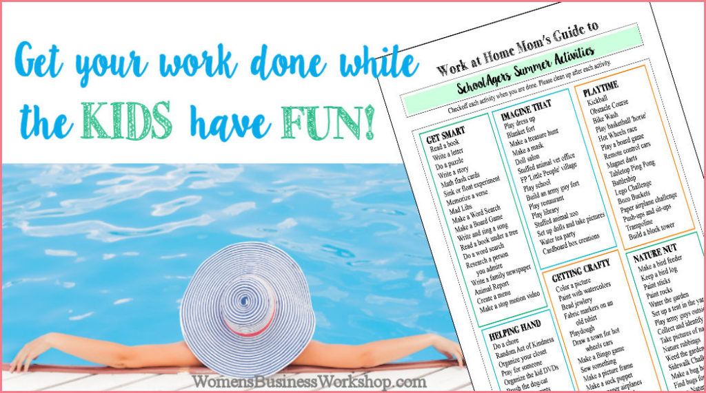 Summer Activity List for Kids