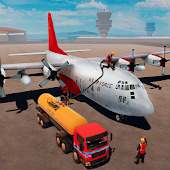 Airplane Oil Tanker Truck Transporter Game