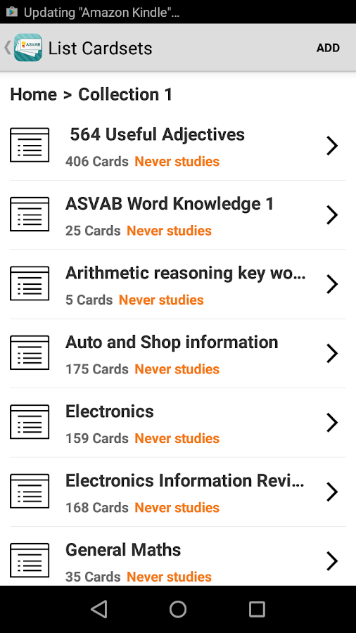 ASVAB Flashcards- screenshot