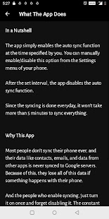 Schedule Auto Sync and Save Battery