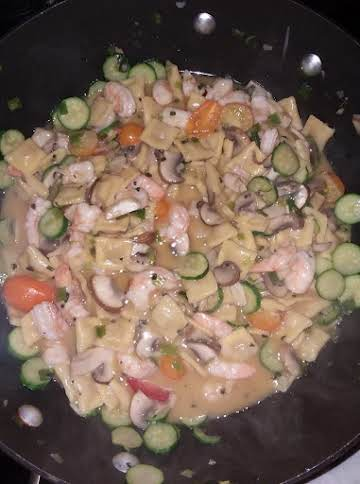 Shrimp Pasta with Browned Butter & Sage Sauce