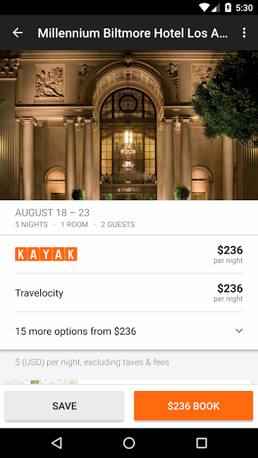 #4. KAYAK Flights, Hotels & Cars (Android)