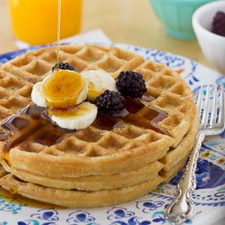 Crispy, Gluten-Free Oatmeal Waffles {Dairy-Free}