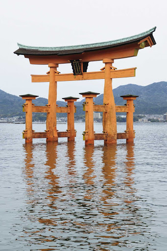 Ponant-Japan-Miyajima.jpg -  The Floating Otorii gate at Miyajima, Japan.