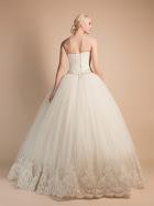 Robe de mariée Agathe dos, robe de mariage princesse dentelle, tulle et strass