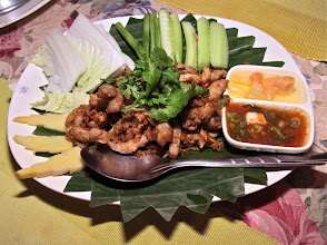 Photo: fried sour pork, Bai Fern