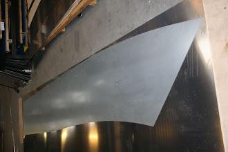 Photo: Laserskåret skabelon til sideplade