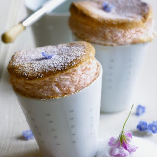 Baked Strawberry Souffles.