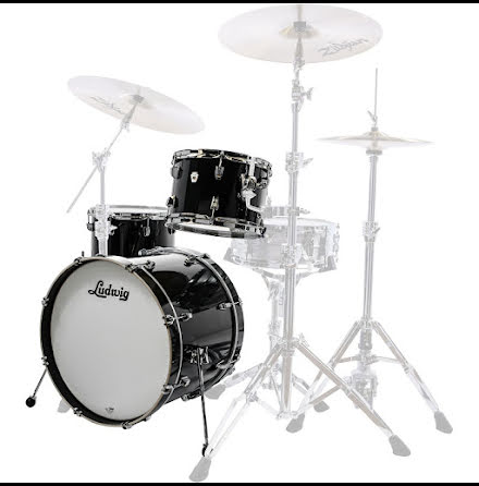 "Ludwig NeuSonic 20""-set - Black Cortex - USA-TILLVERKADE!!"