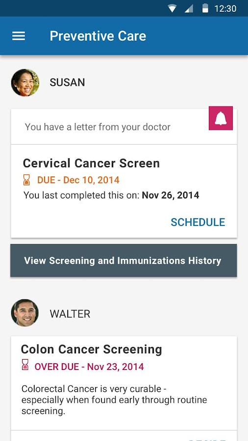 KP Preventive Care (NCAL only)- screenshot