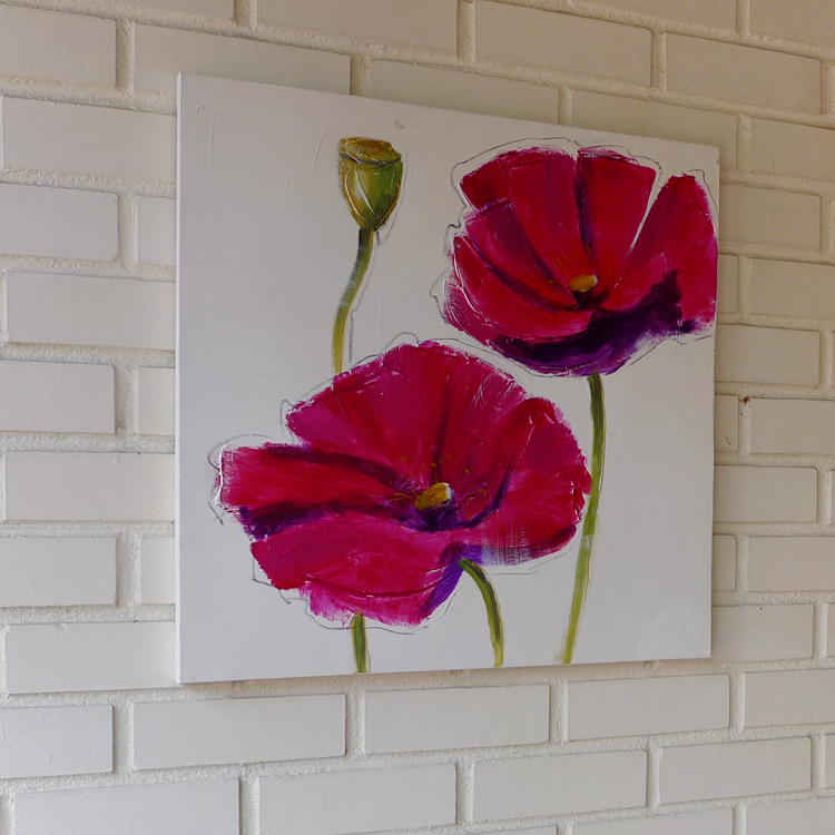 Contemporary Oil Painting _F_pink_60 x 60 by K RULES ENTERPRISE