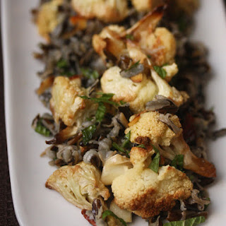 Wild Rice with Roasted Cauliflower and Nuts.