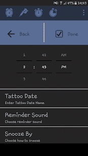 Tattoo Alarm Clock - Free- screenshot thumbnail
