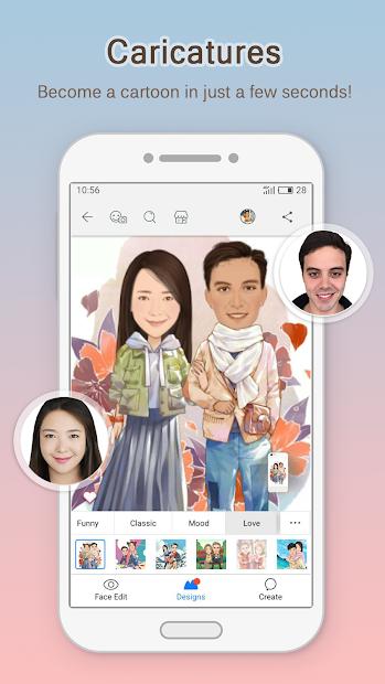 MomentCam Cartoons & Stickers Android App Screenshot