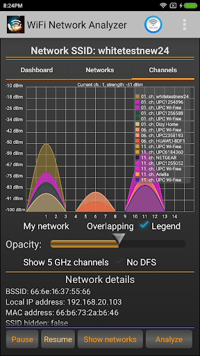 WiFi Analyzer 2.1.1 screenshots 1