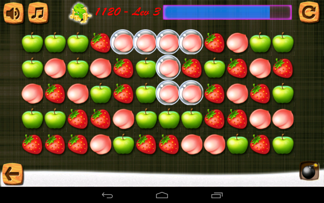 Fruit link 3 - Sweet Candy Star Fruit Link Screenshot