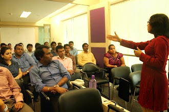 Photo: Ritika conducting a workshop at L'Oreal Powai